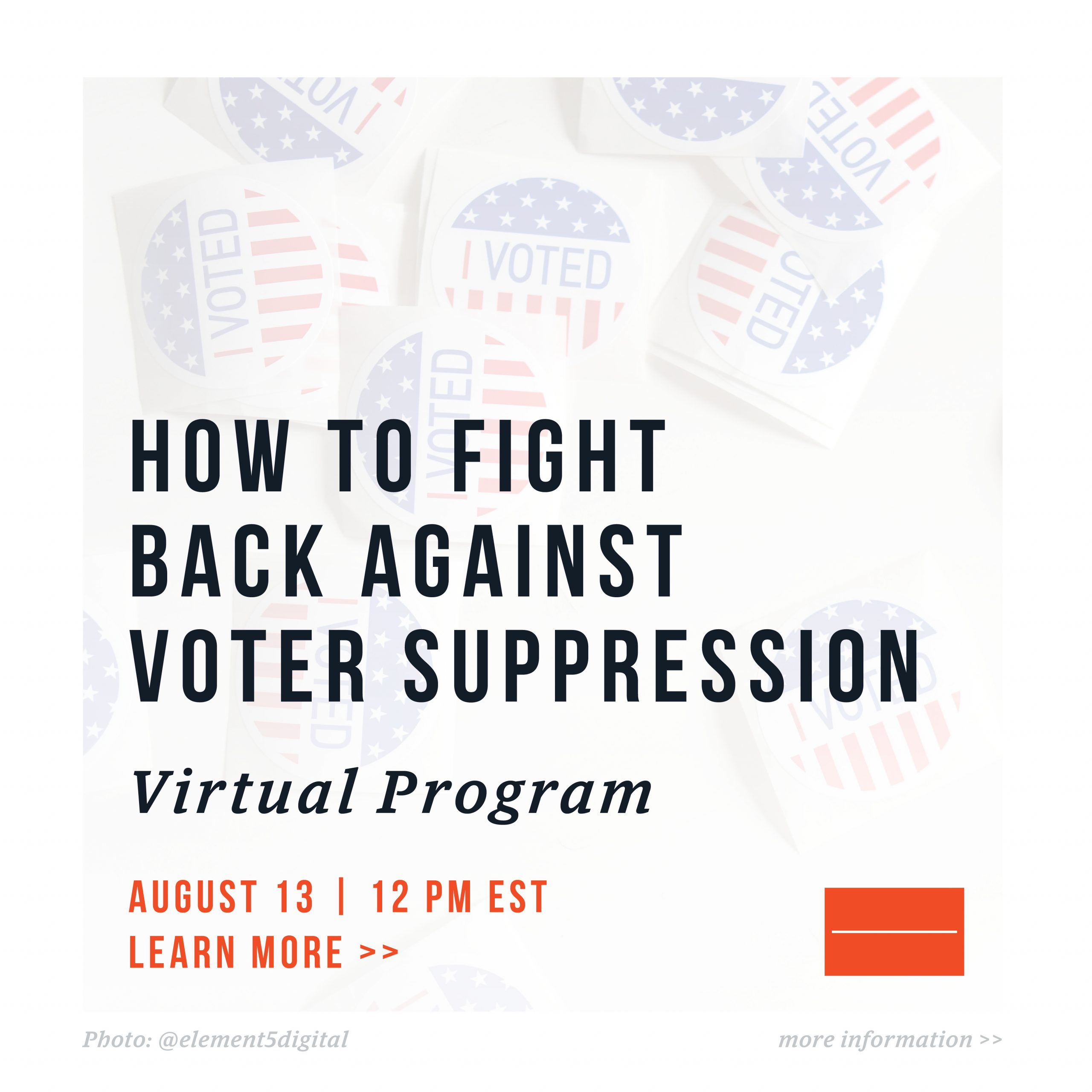 How to fight back against voter suppression graphic